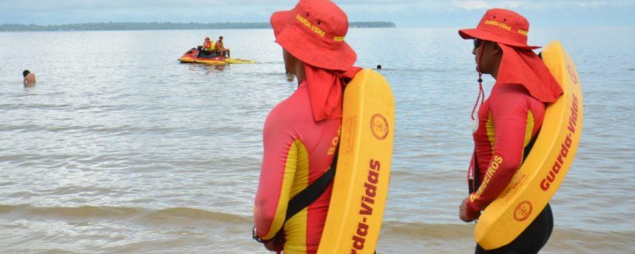 Tranquilidade nas praias durante a Operação Réveillon