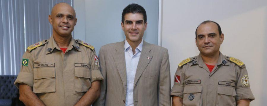 GOVERNO DO ESTADO E COMANDO DO CBMPA TRATAM DE PAUTAS EM PROL DA CORPORAÇÃO