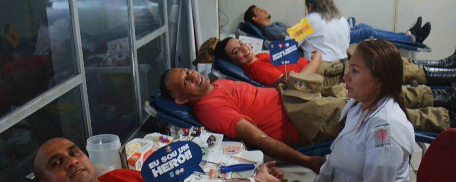 Corpo de Bombeiros realiza campanha de doação de sangue em parceria com o Hemopa