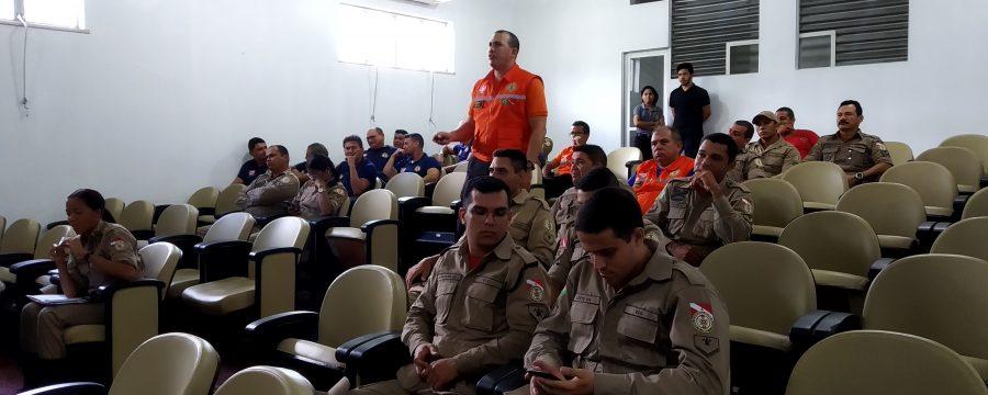 Corpo de Bombeiros realiza instrução do Sistema de Comando de Incidentes