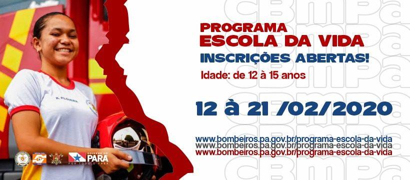Programa Escola da Vida do Corpo de Bombeiros abre as inscrições para o público