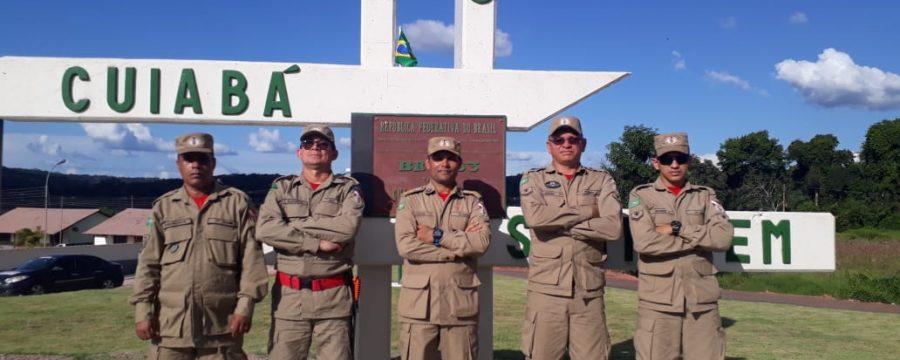 Corpo de Bombeiros participa de inauguração de obra de pavimentação da BR-163 com o Presidente Jair Bolsonaro