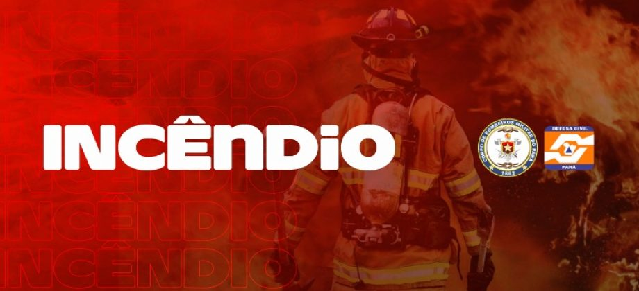 CBMPA combate incêndio na Escola Bosque em Outeiro