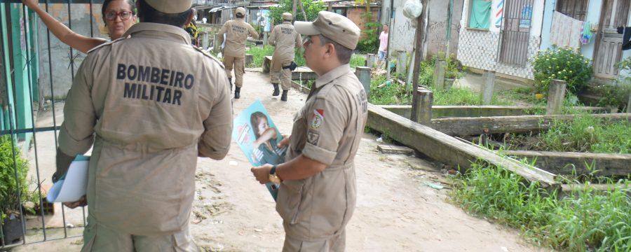 Curió Utinga recebe ação de cadastramento do CBMPA ao Programa Recomeçar