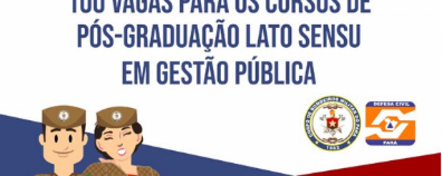 ESCOLA DE GOVERNANÇA PÚBLICA DO PARÁ OFERTA VAGAS PARA CURSOS DE PÓS-GRADUAÇÃO  EM GESTÃO PÚBLICA