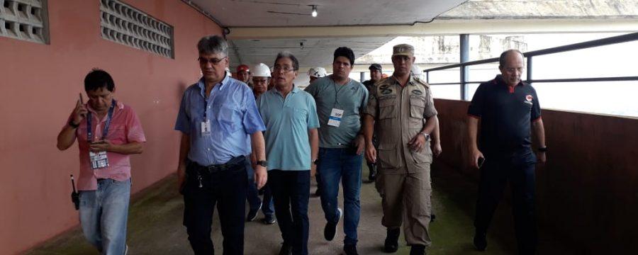 Bombeiros e Sedop vistoriam Mangueirão e liberam estádio para Re-Pa