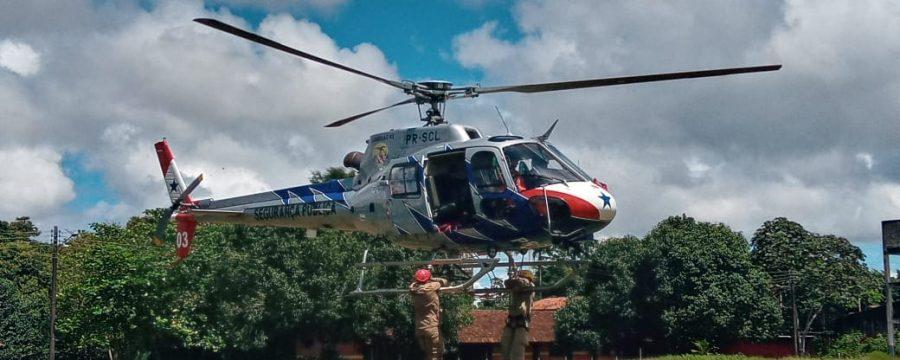CBMPA realiza Instrução de Transporte Aeromóvel