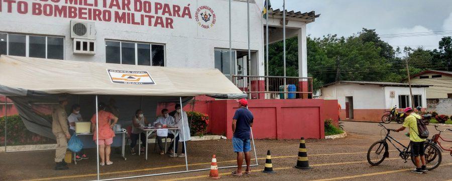 Grupamento Bombeiro Militar de Altamira realiza campanha de vacinação contra gripe