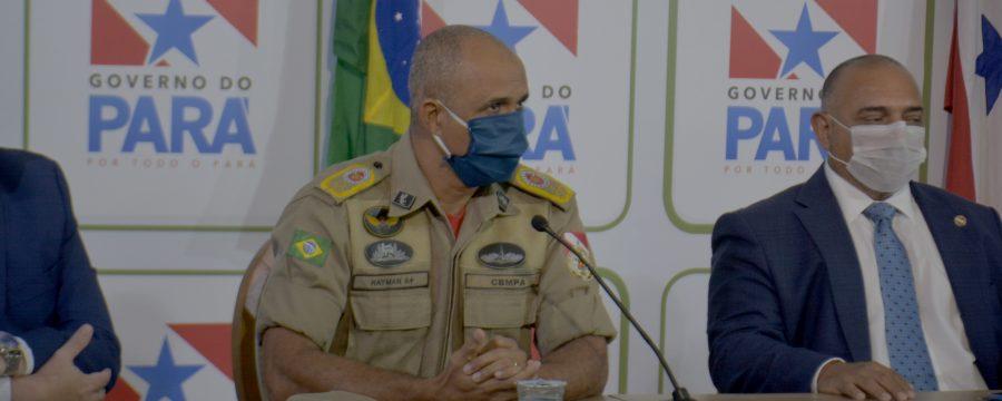 CBMPA participa da coletiva sobre o Balanço no 3° mês de 2020 da Segurança Pública do Pará