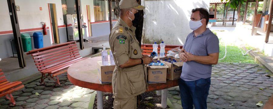 CBMPA recebe doação de equipamento e materiais de higienização