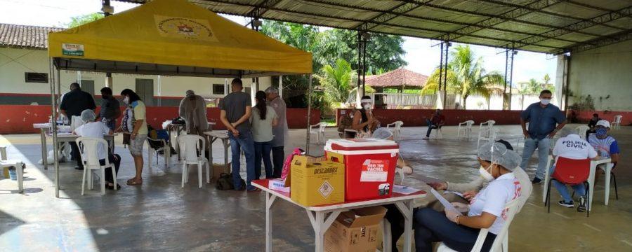 CBMPA recebe ação de saúde contra o novo CoronaVírus no município de Abaetetuba