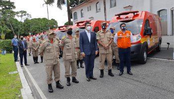 Entrega das viaturas de Resgate pelo Governo do Pará Helder Barbalho