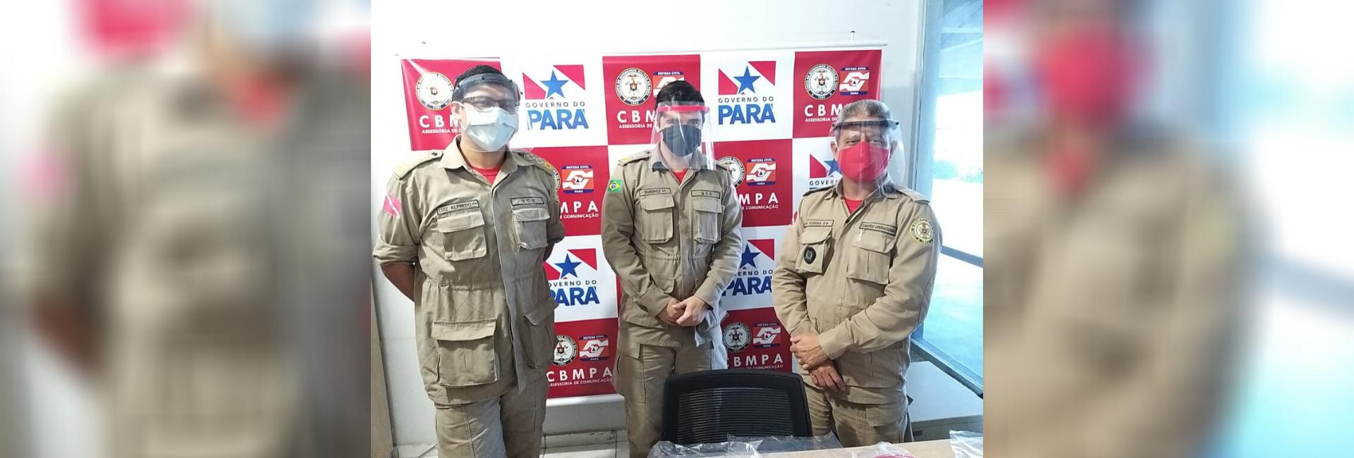 EFETIVO DO CBMPA RECEBE DOAÇÃO DE MÁSCARAS DE PROTEÇÃO FACIAL
