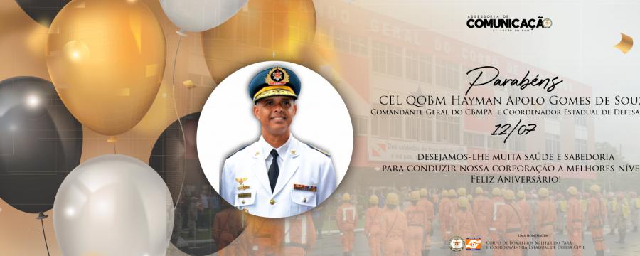 Parabéns ao Comandante Geral do CBMPA