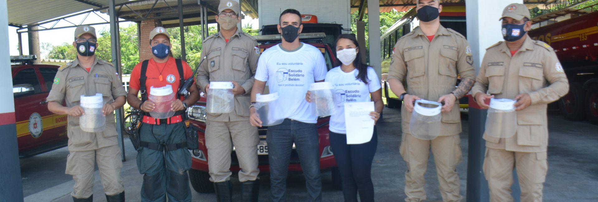 BOMBEIROS RECEBEM DOAÇÃO SOLIDÁRIA DE ESCUDOS DE PROTEÇÃO FACIAL