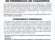 DATA FINAL PARA REGULARIZAÇÃO DE PENDÊNCIAS DE CADASTROS