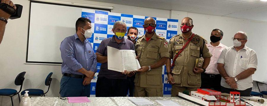Comandante Geral visita o 4º GBM/Santarém e recebe escritura do terreno para construção de nova Unidade em Alter do Chão