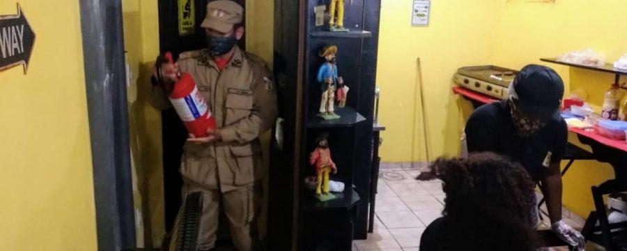 VISTORIAS EM ESTABELECIMENTOS COMERCIAIS, NO BAIRRO DO JURUNAS, MARCAM O RETORNO DO CORPO DE BOMBEIROS ÀS ATIVIDADES DO TERPAZ