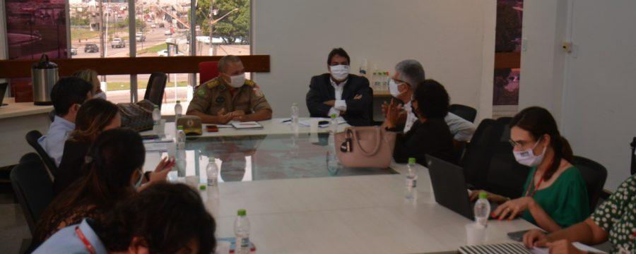 CBMPA realiza reunião para discutir sobre as ações em incêndio na Cidade Velha