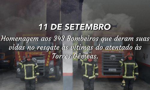 Homenagem do CBMPA aos 343 bombeiros que deram suas vidas no resgate às vítimas do atentado às Torres Gêmeas!