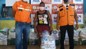 TÉCNICOS DA DEFESA CIVIL DO ESTADO REALIZAM ENTREGA DE CESTAS BÁSICAS NO MUNICÍPIO DE CACHOEIRA DO ARARI