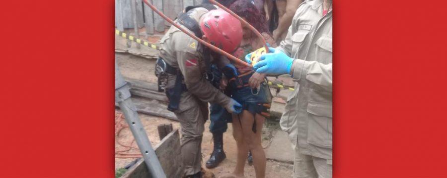 CBMPA realiza resgate de mulher de um poço de 12 metros de profundidade em Capanema