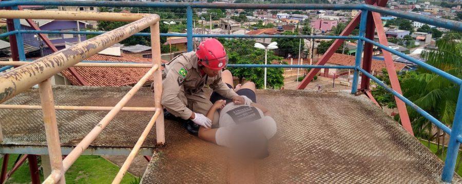 CBMPA realiza resgate em torre no município de Altamira