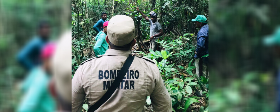 CORPO DE BOMBEIROS REALIZA RESGATE DE HOMEM PERDIDO NA MATA EM ALTAMIRA