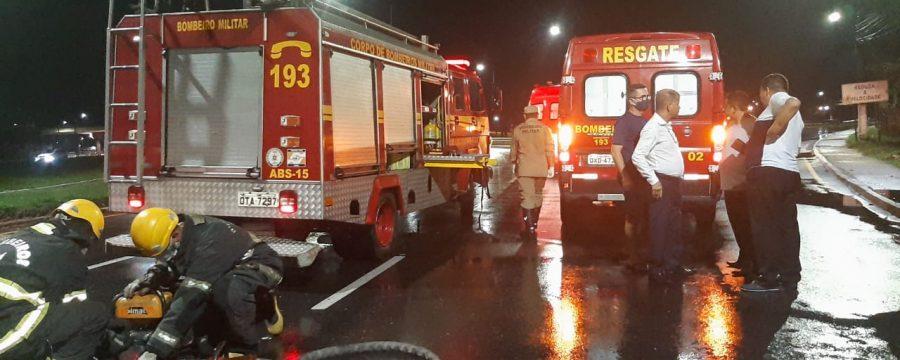 CBMPA realiza resgate de vítima em acidente na Avenida Pedro Álvares Cabral
