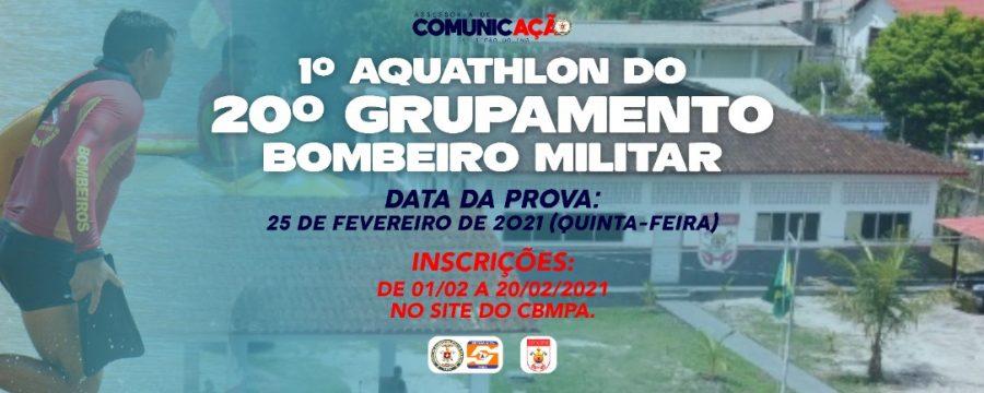 """INSCRIÇÕES ABERTAS PARA O """"1º AQHATHLON DO 20º GBM"""" EM MOSQUEIRO"""