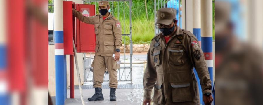 Hospital de Campanha de Santarém é vistoriado por Bombeiros e Vigilância Sanitária