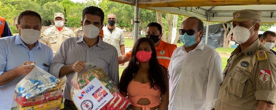 GOVERNO DO ESTADO ENTREGA CESTAS BÁSICAS PARA DESABRIGADOS EM MARABÁ