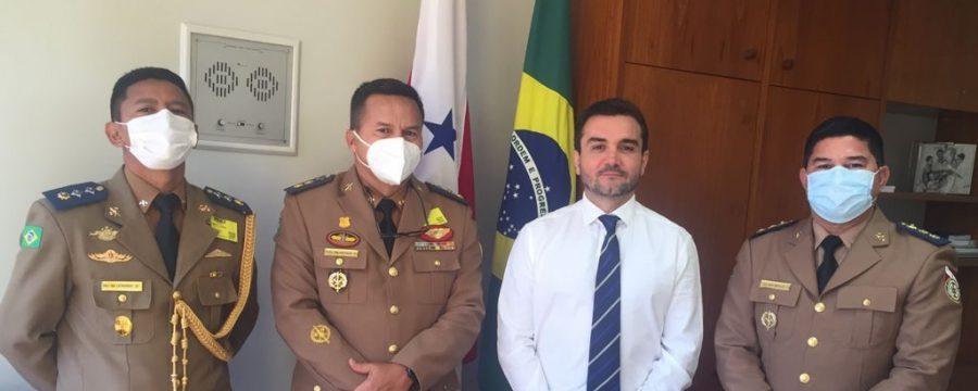 COMITIVA DE OFICIAIS DÁ CONTINUIDADE À SÉRIE DE VISITAS INSTITUCIONAIS NA CAPITAL FEDERAL