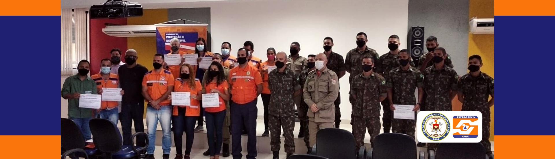 Defesa Civil do Estado realiza cerimônia simbólica do curso de capacitação no município de Marabá