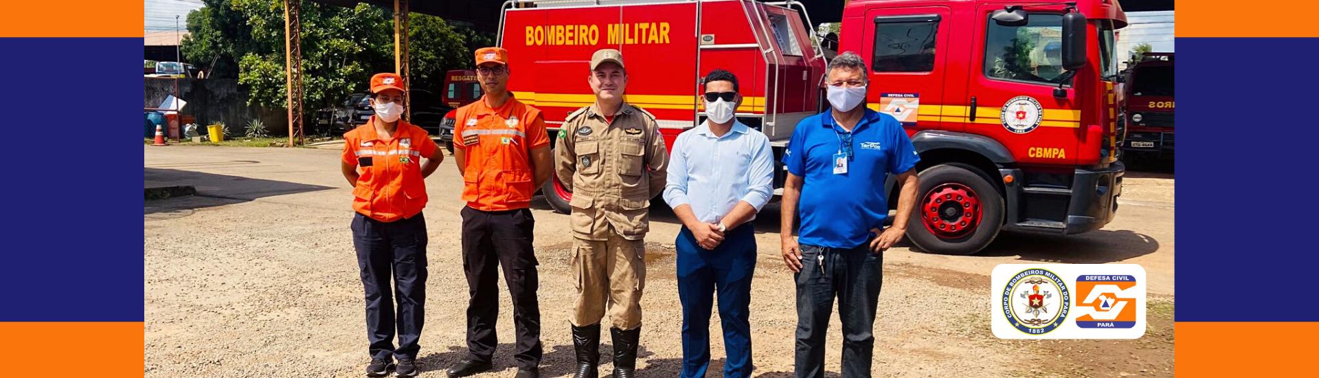 Defesa Civil e TERPAZ visitam o 23º Grupamento Bombeiro Militar – Parauapebas
