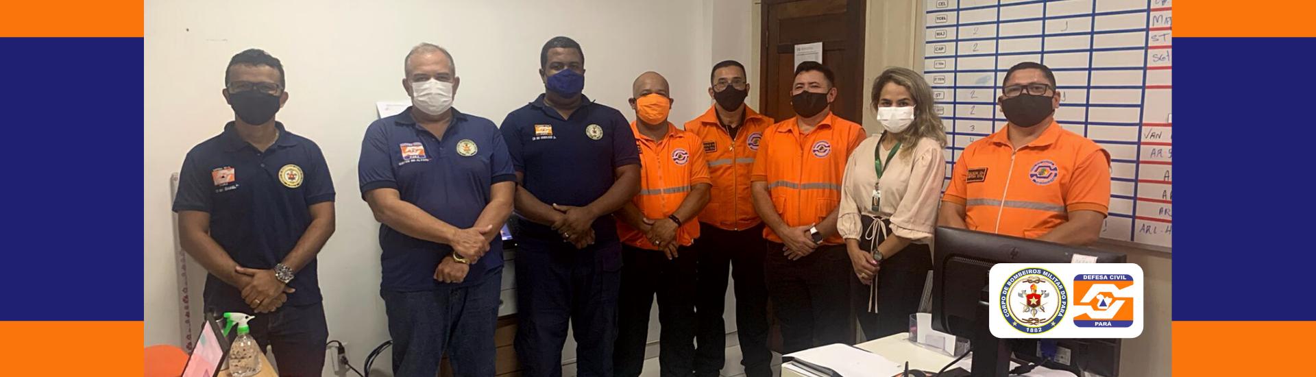 Coordenador municipal de Paragominas e sua equipe técnica visitam a Defesa Civil